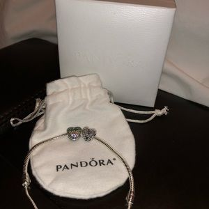 Pandora Charm Bracelet w/2 Charms